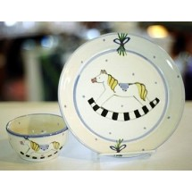 Child's Plate & Cereal Bowl Set